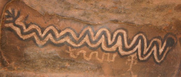 sedona arizona snake petroglyph